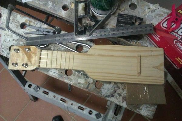 Pocket Ukulele - Home Made Sopranino Ukulele From Scrap Wood