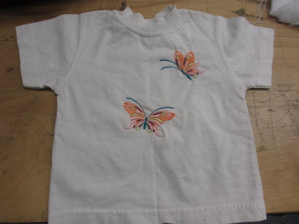 Machine Embroidery for a Tshirt