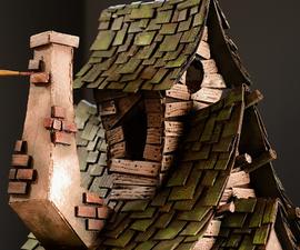 巫婆房子使用纸板