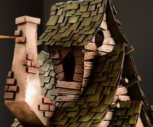 Witch House Using Cardboard