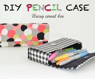 DIY Pencil Case Using Cereal Box