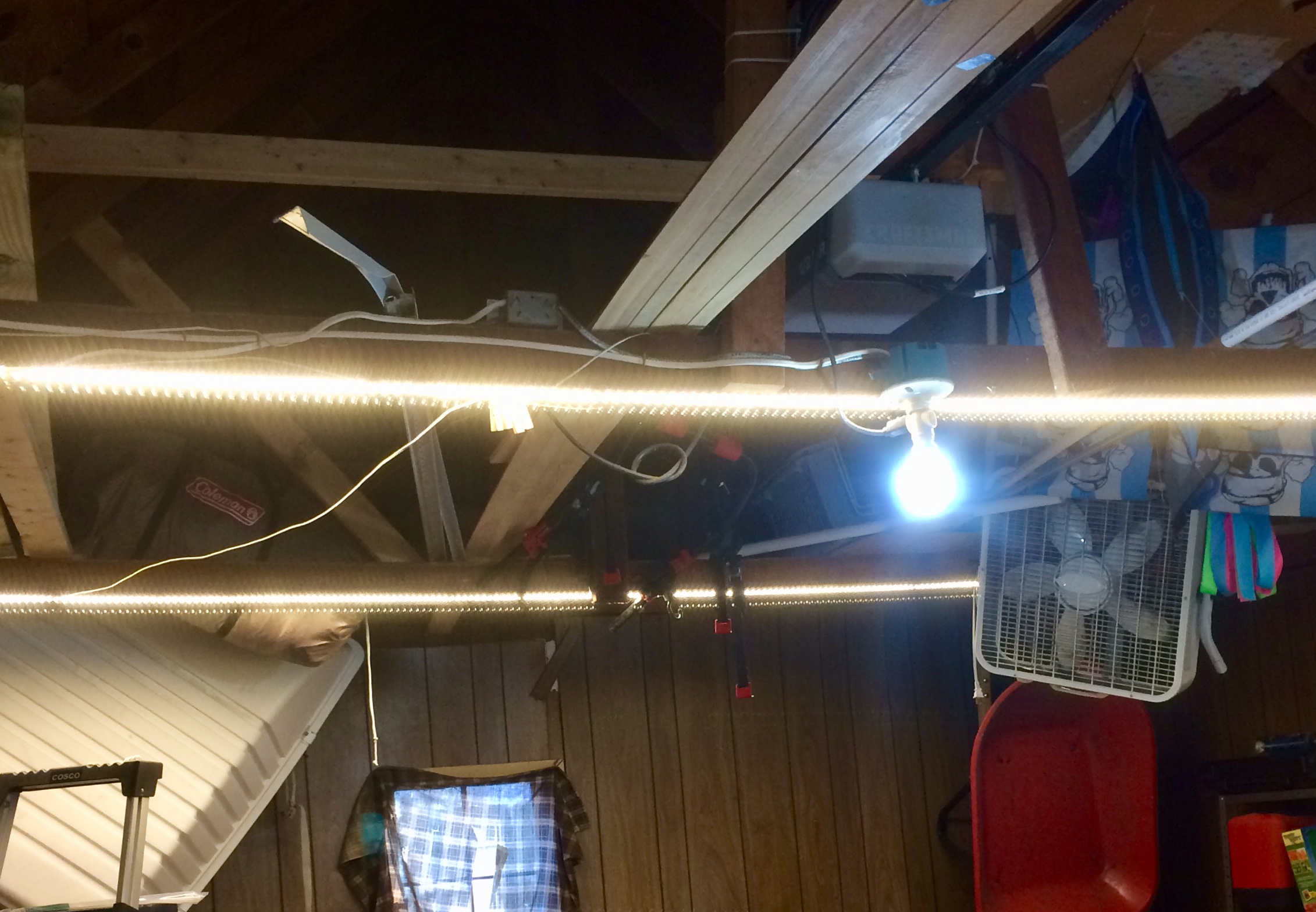 Inexpensive Garage Lights From LED Strips