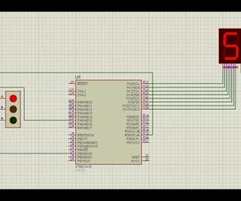 Atmega16 Based Traffic Light Project Prototype Using 7 Segment Display(Proteus Simulation)