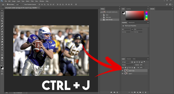 Make a Copy of Your Image (CTRL+J)