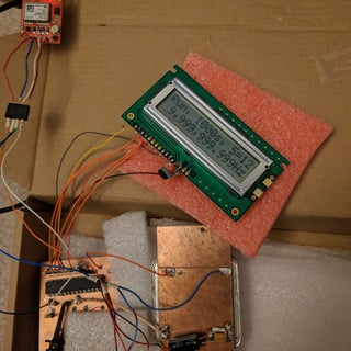 GPSDO YT 10 Mhz Lcd 2x16 With LED, UTC Time and GPS Localisation.