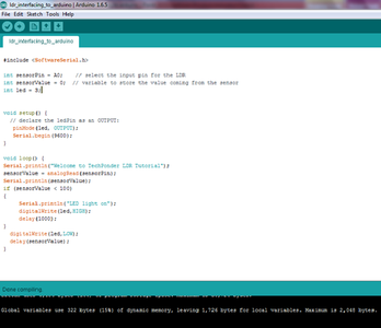 Programming, Compiling and Uploading to Arduino