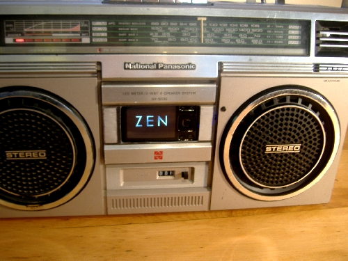 Ghettoblaster MP3 player installation