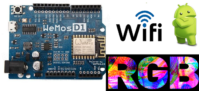 Desk Led Rgb Lamp Controll WeMos D1+android App+WiFi