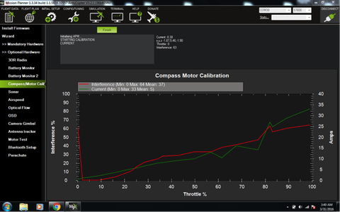 Compass / Motor Calibration