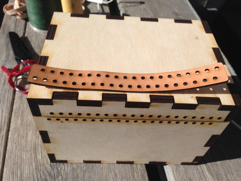 Adding the Leather Hinge
