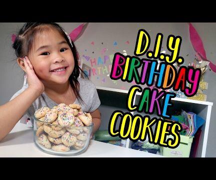 DIY Birthday Cake Cookies