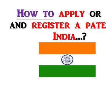 File a patent in India.