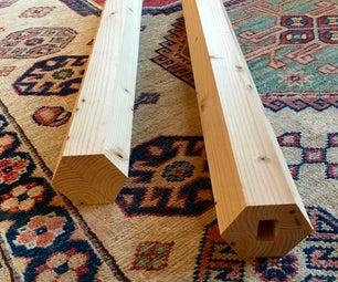 简单的六角形木柱,从一个2乘4到4
