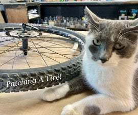 Patching a Bike Tube for Beginners, (and Cats )