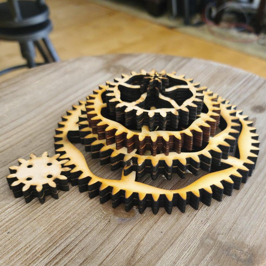 Gear Motor -> Drive Wheels -> Planetary Wheels
