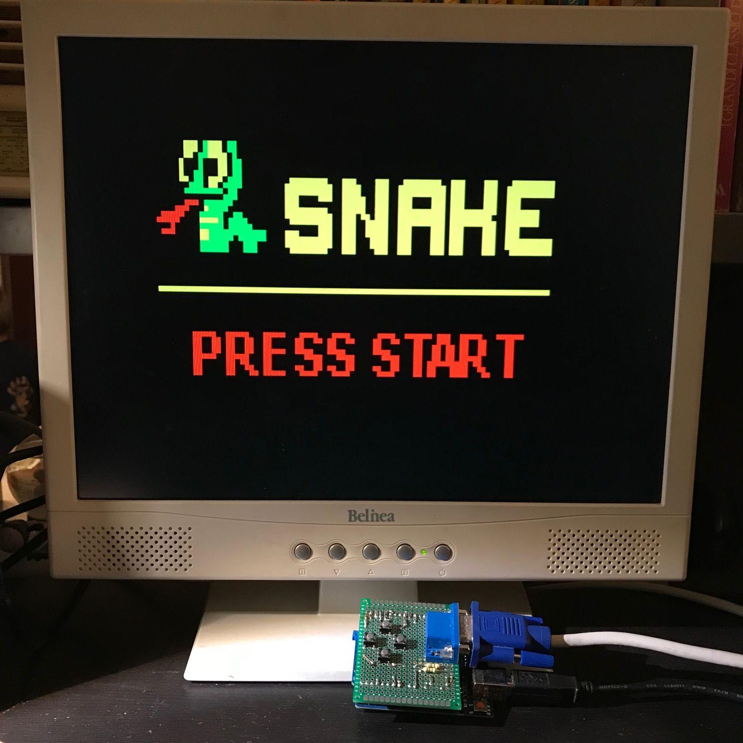 Arduino Snake on a VGA Monitor