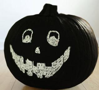 Make a Chalkboard Pumpkin