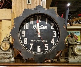 Retro Motorcycle Tachometer Wall Clock