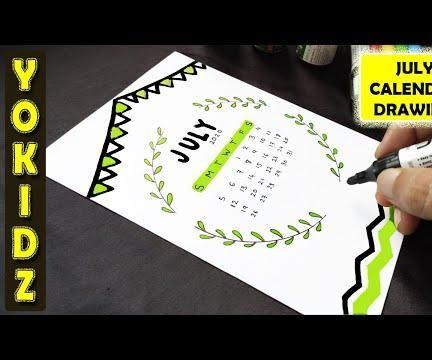 HOW TO DRAW JULY CALENDAR 2020