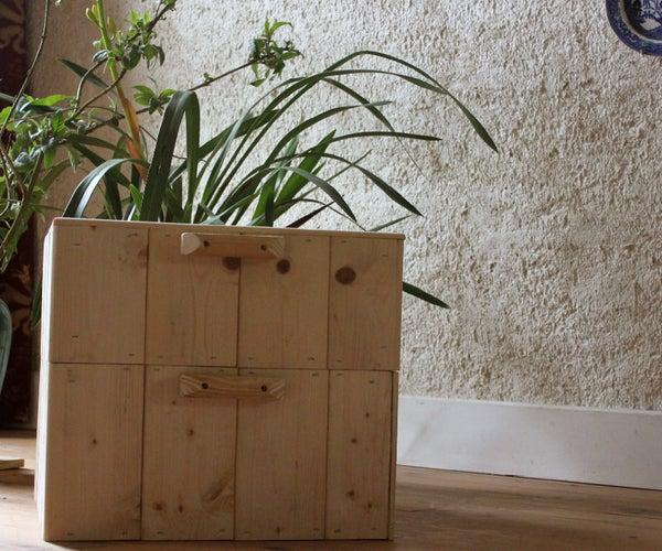 Home-made Fuelless Wooden Cooker or Hay-Box. Brico - Marmite Norvegienne. Cocinar Sin Fuego