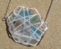 Make a Sea Glass Basket Pendant or Earrings