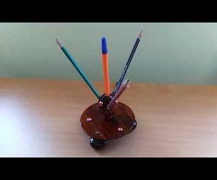 CNC蛋夹为铅笔和钢笔,带有融合360