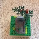 Lego exploding grave