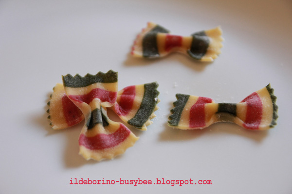 Homemade Colourful Farfalle Pasta