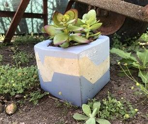 Cheap and Stylish DIY Concrete Pots