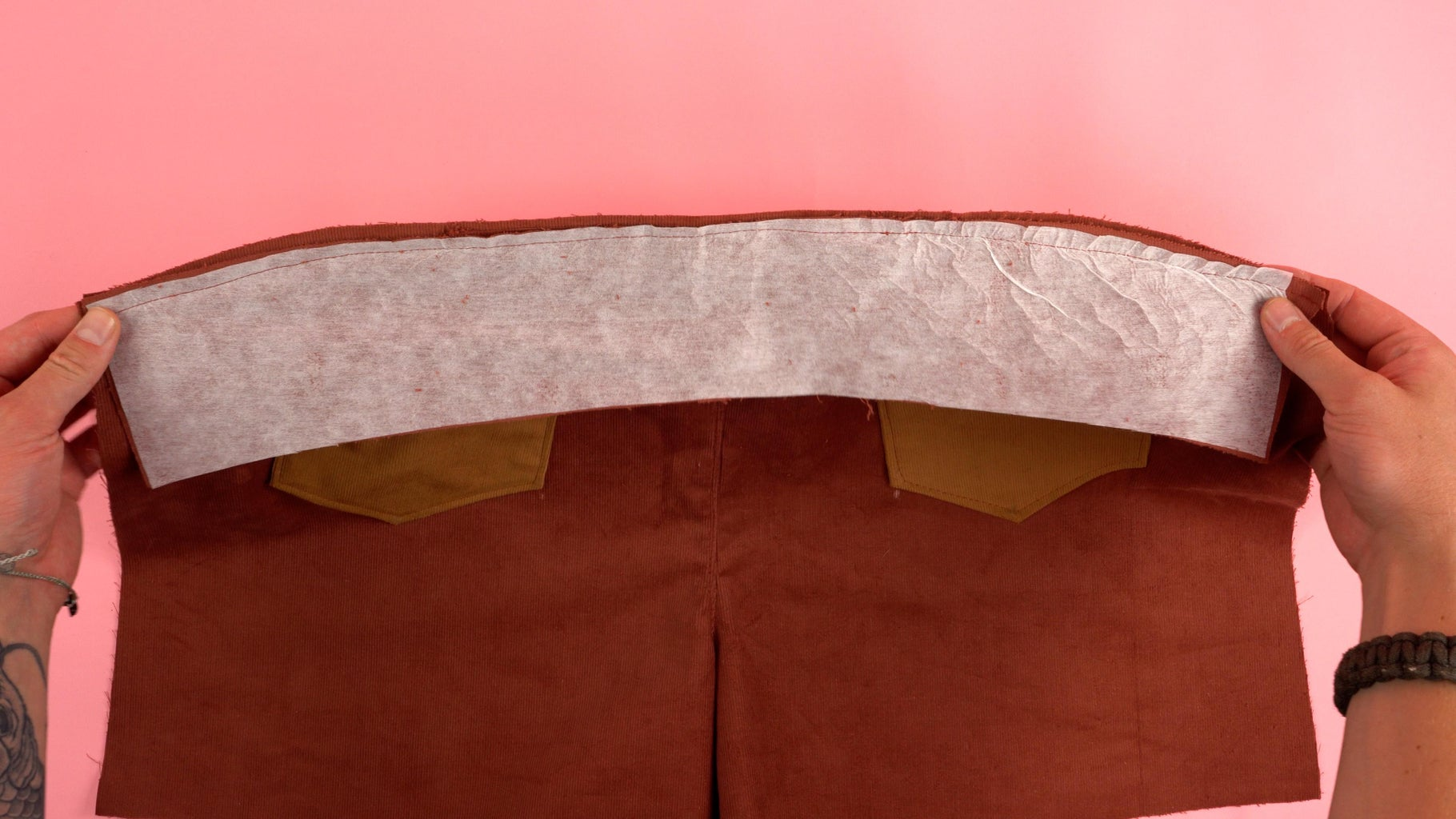 Attaching Waistband Back Panels