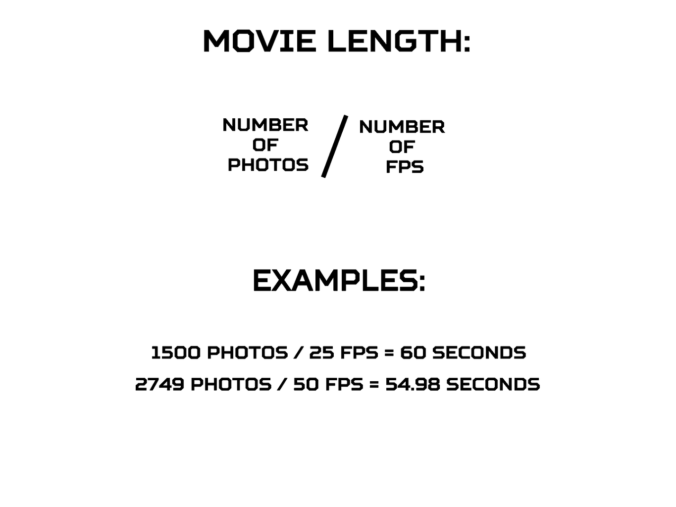 Make a Movie From Photos