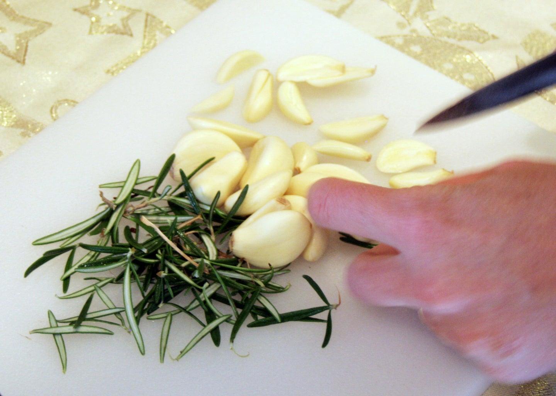 Prepare Garlic and Fresh Herbs