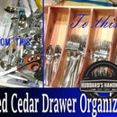 Custom Red Cedar Utensil Organizer