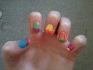 Cool Colour Block Nails