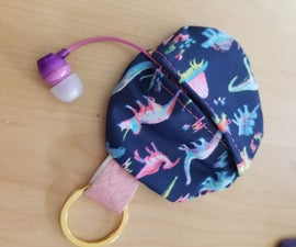 Earbud Pouch Keychain