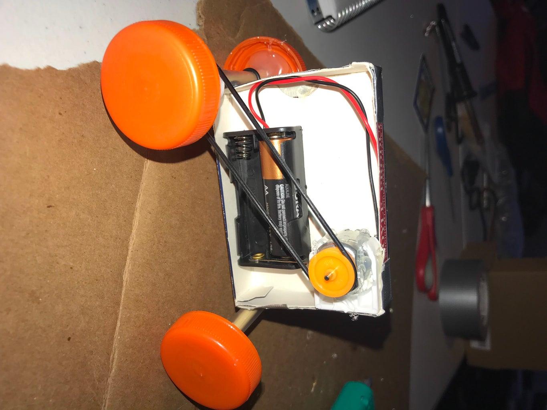 Card Box Toy Car Build