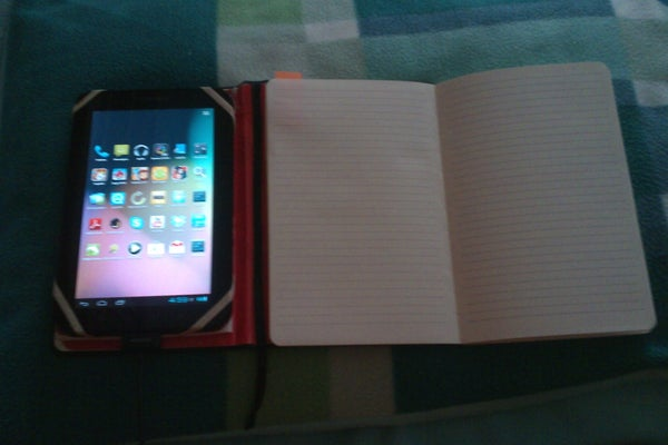 Moleskine With Android Tablet