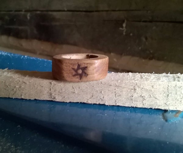 Wood Rings (made Only With a Drill)