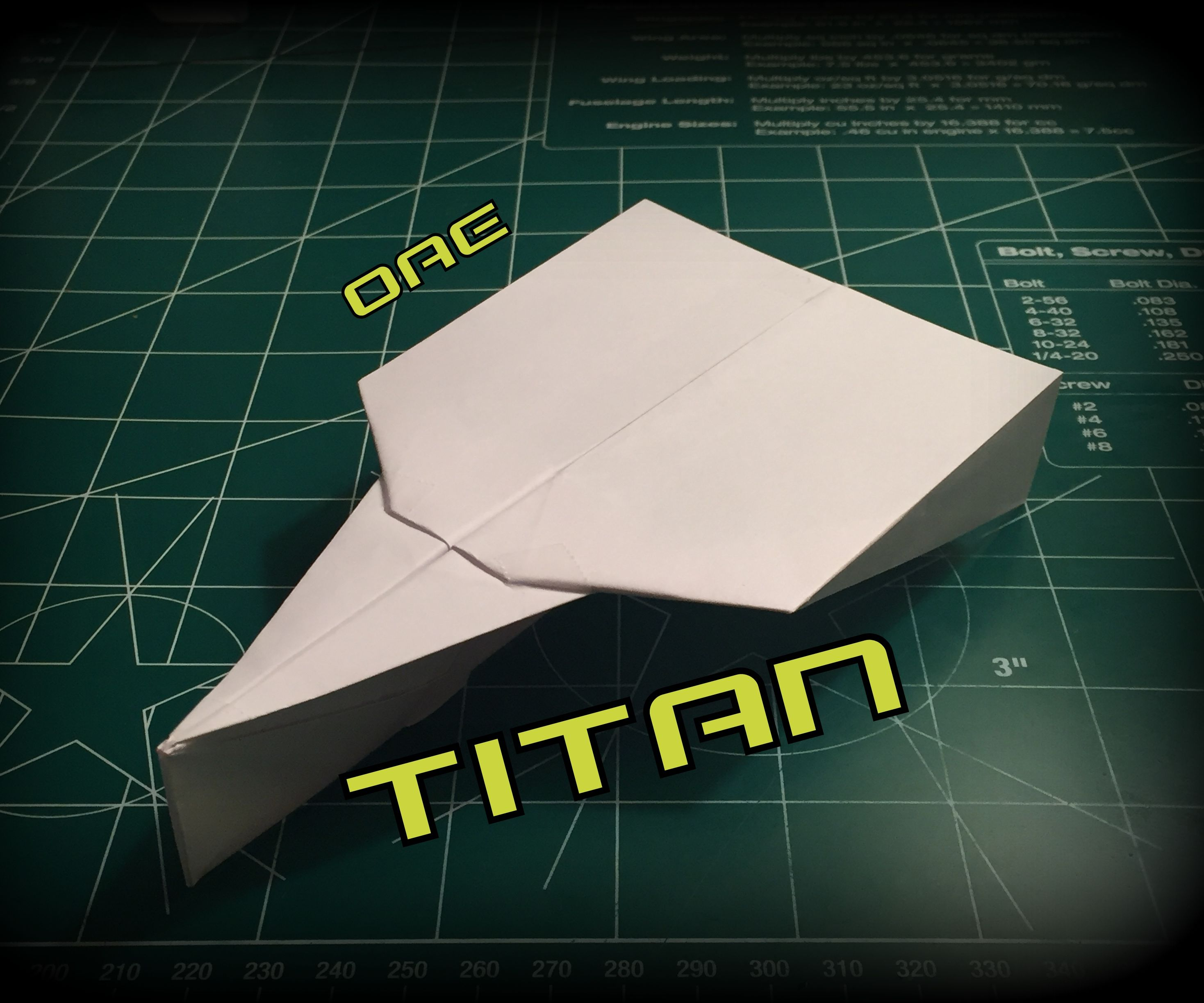 How to Make the Titan Paper Airplane