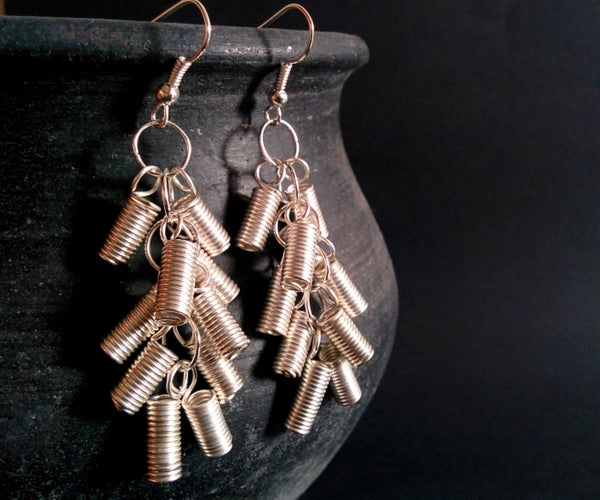 How to Create Cluster Earring Using Wire Coils