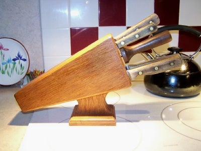 The Finished Knife Block