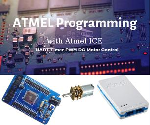 Atmega128A Proportional Motor Driving - ATMEL ICE AVR Timer UART PWM Control