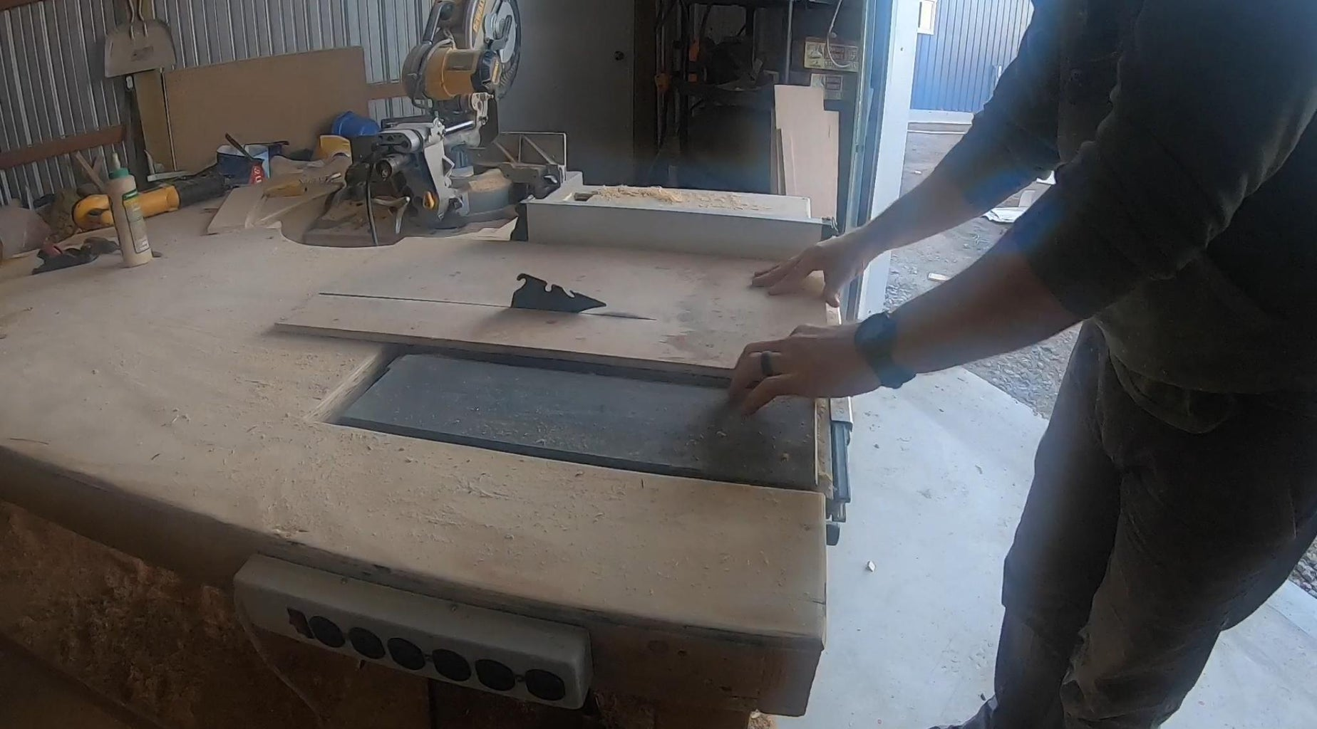 """Cut 3 Pieces of 1/2"""" Plywood at 10.5""""x20"""""""