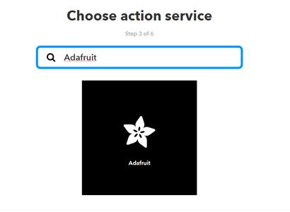 Seleccionamos a Adafruit Y Agregamos Send Data