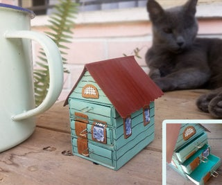 Trinket Cottage From Matchboxes
