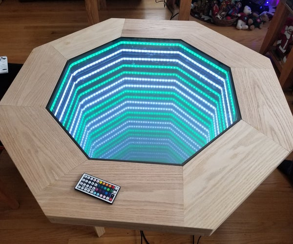 Octagonal Infinity Mirror Table