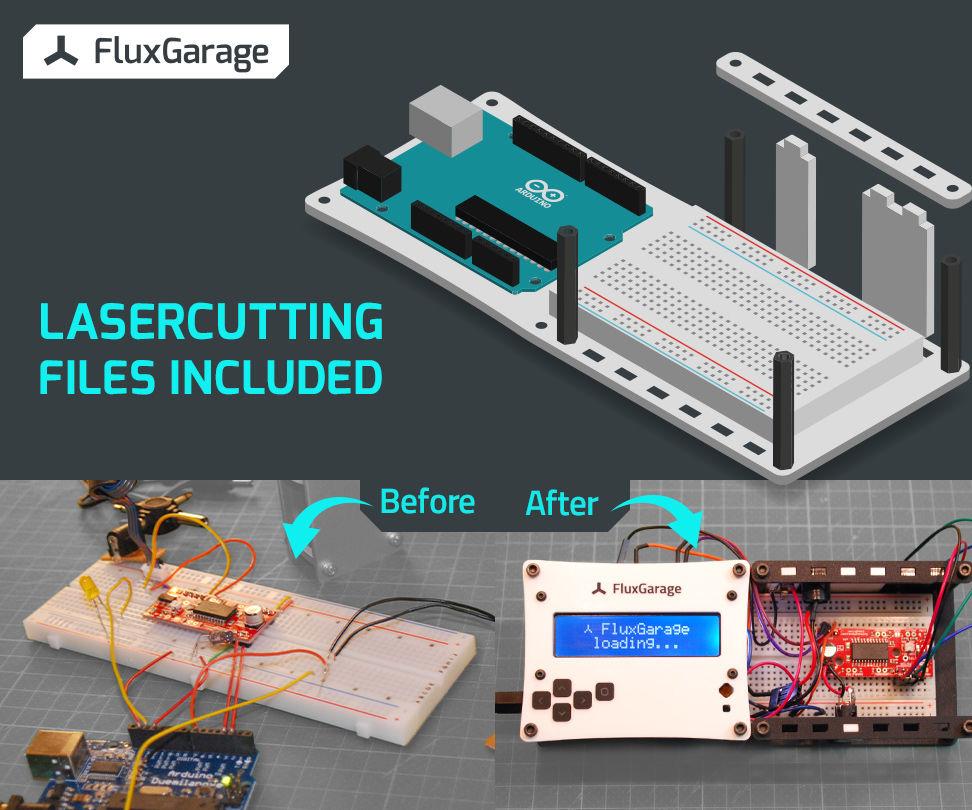 Tinkerer's Baseplate - Arduino + Breadboard(s) + Periphery Holder