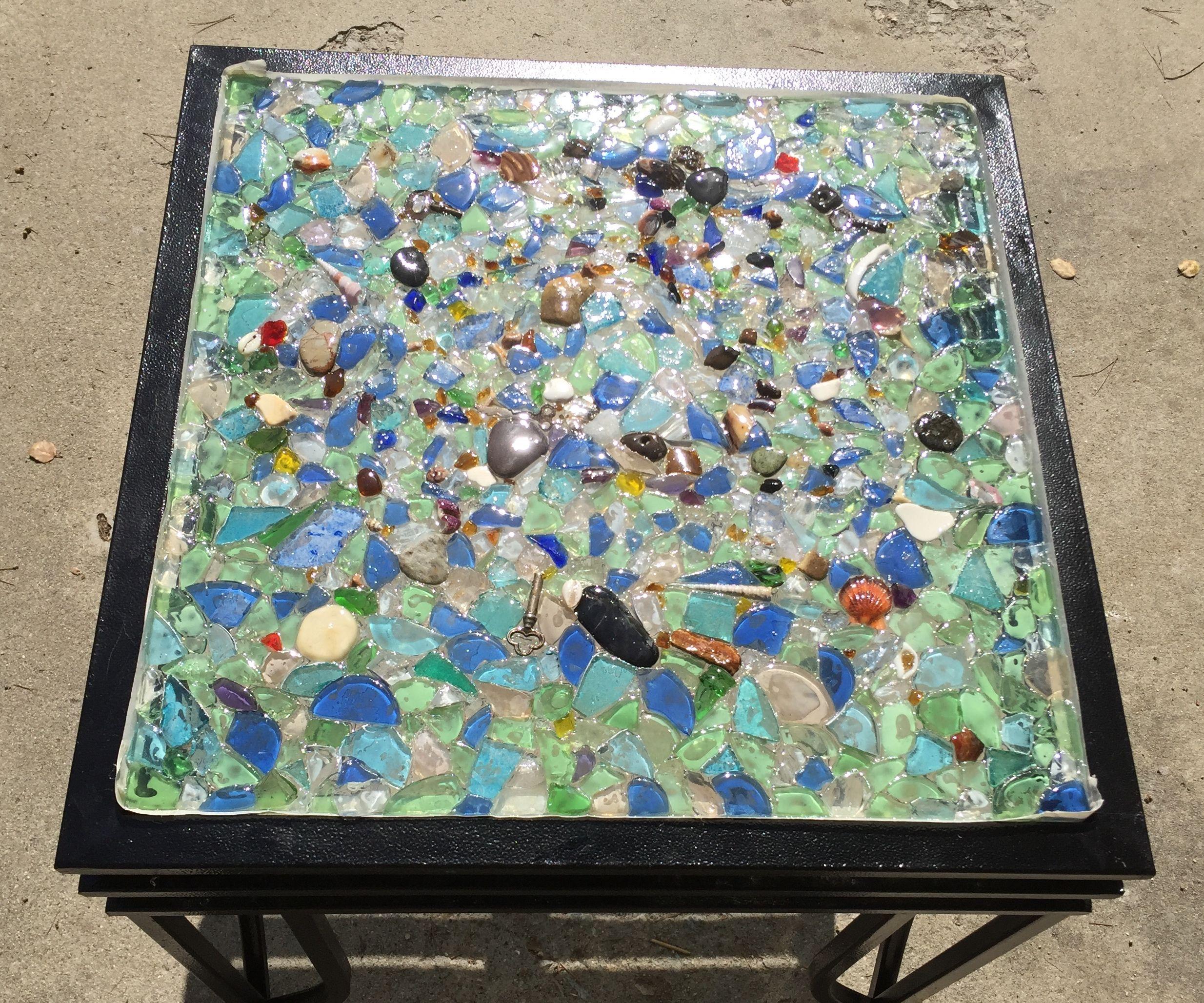 Sea Glass Resin Tabletop