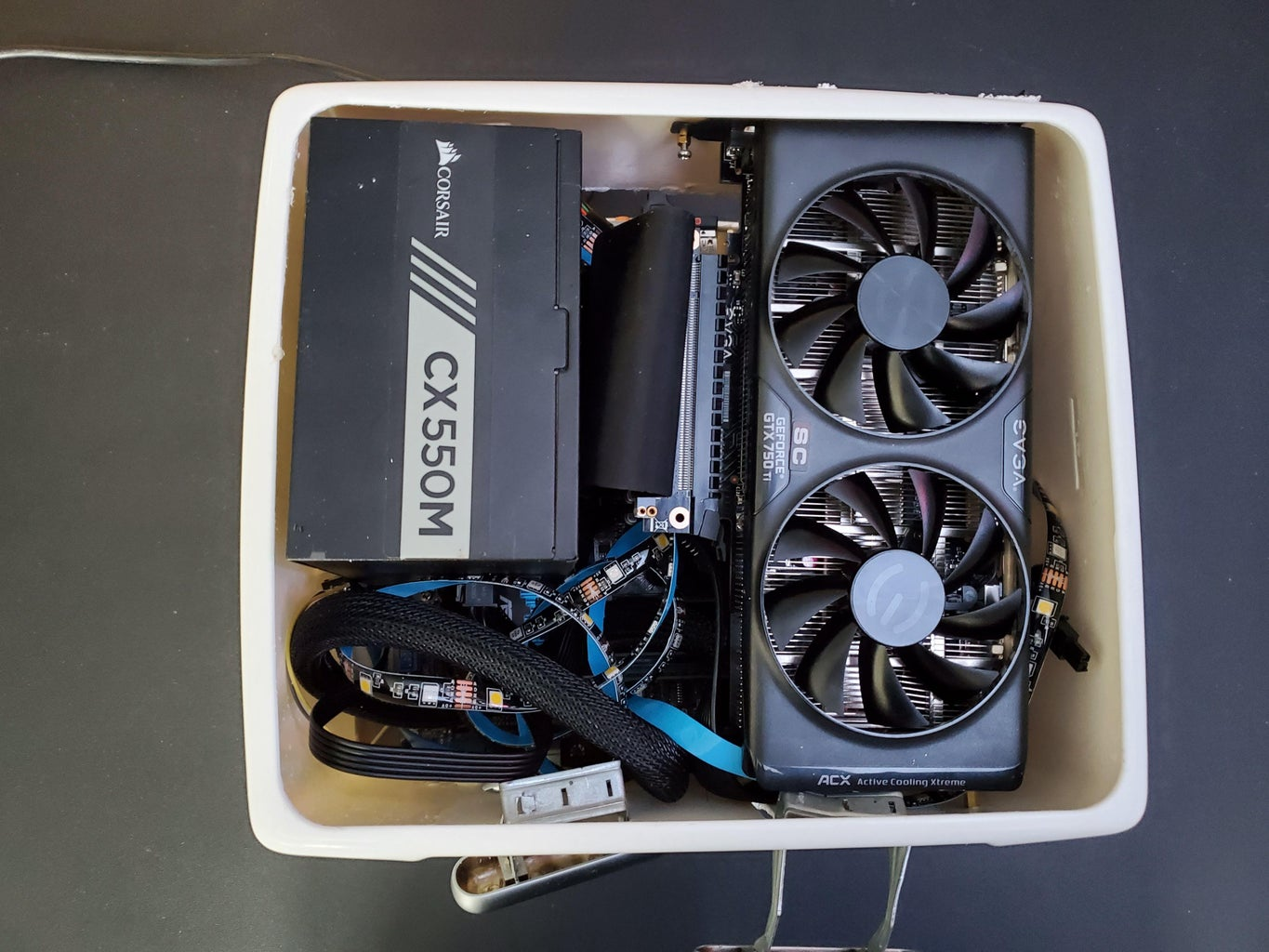 Mounting the GPU and Power Supply