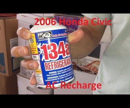 Tutorial: 2006 Honda Civic AC Recharge